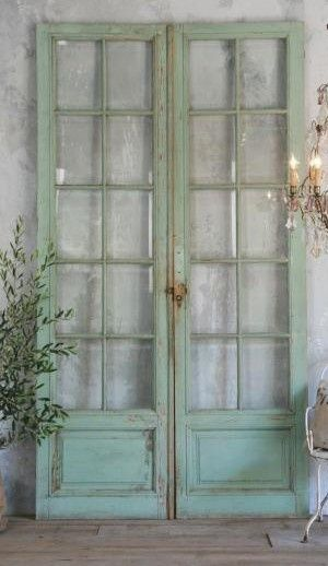 The Paris Apartment Love These Salvaged French Doors Curtains