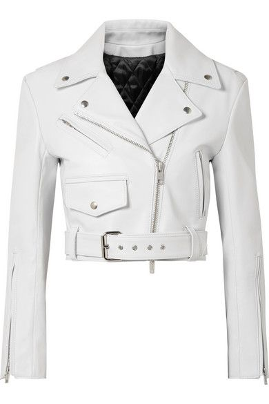 new concept 3739c 1c994 CALVIN KLEIN 205W39NYC - Cropped leather biker jacket | A ...