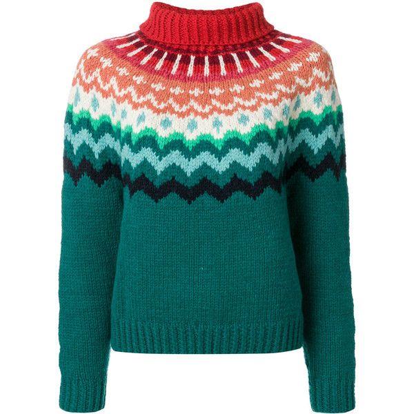 Anya Hindmarch chunky Fair Isle jumper ($955) ❤ liked on Polyvore ...