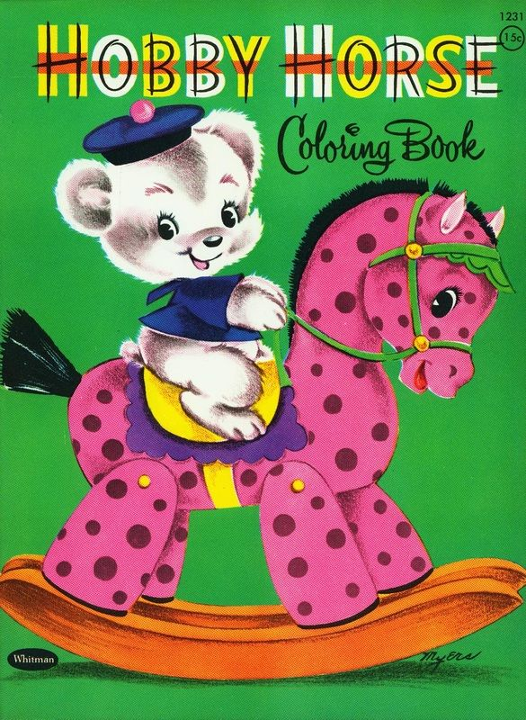 UnusedColoringBooks4Sale | Vintage coloring books, Horse ...
