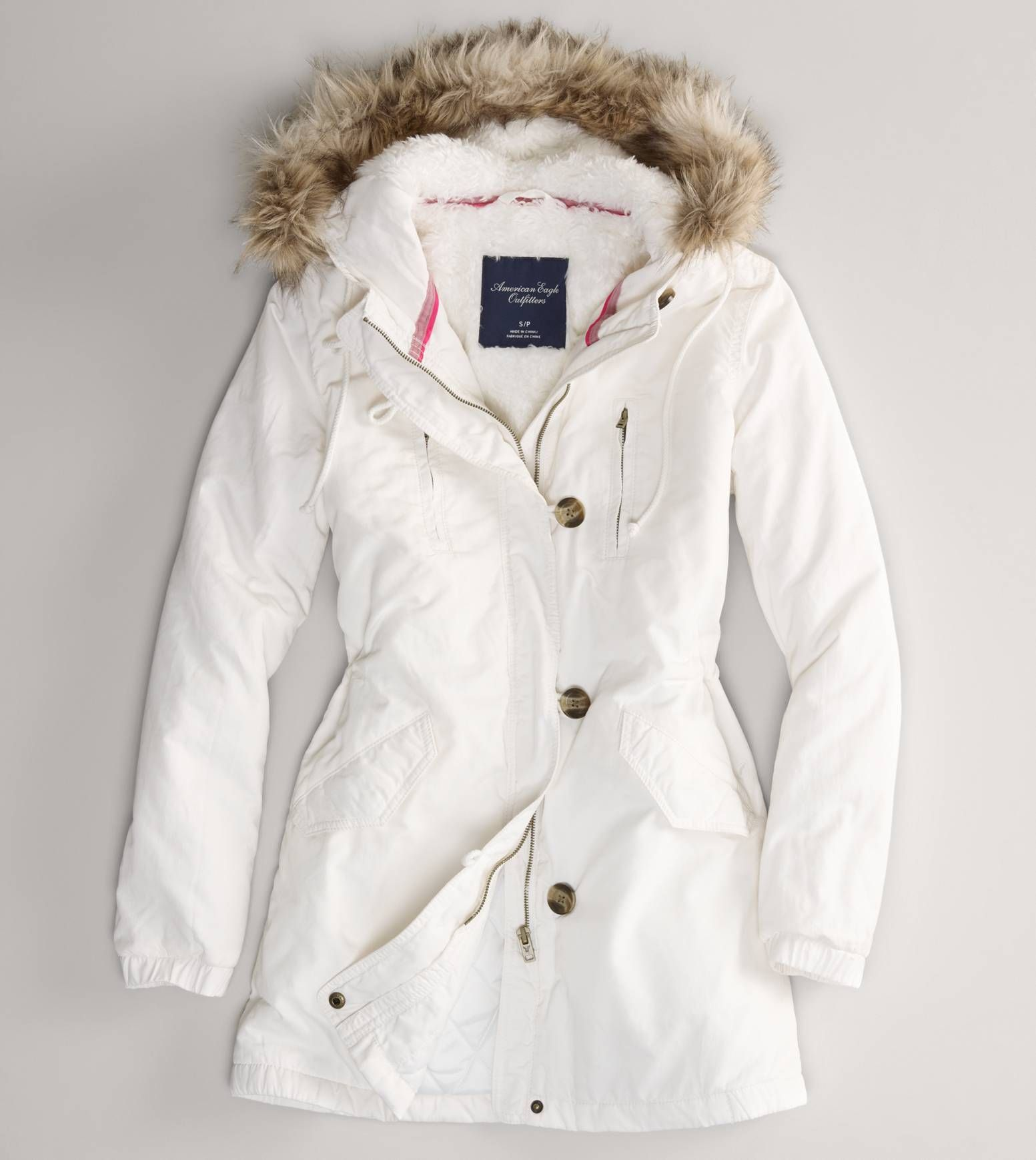 American Eagle Outfitters Women/'s AEO Cotton Parka Jacket Winter Coat  Size XXS