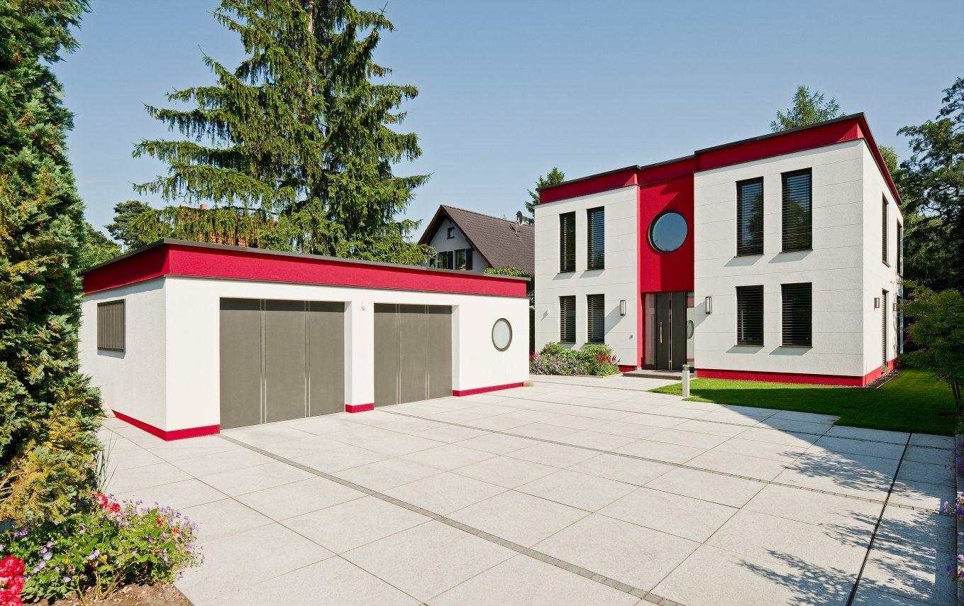 Cubatur 155 Bauen Wir Als Flachdach Haus Mit Klinker  Oder Putzfassade  Massiv U0026 Bezugsfertig In Berlin, Brandenburg Und Hamburg U2013 Modernes Haus.