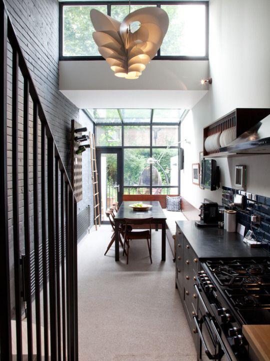Kitchen Designs | Long narrow kitchen, Modern kitchen ...