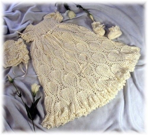 Crochet Pattern For Calleigh Christening Gown By Rebecca Leigh Nb
