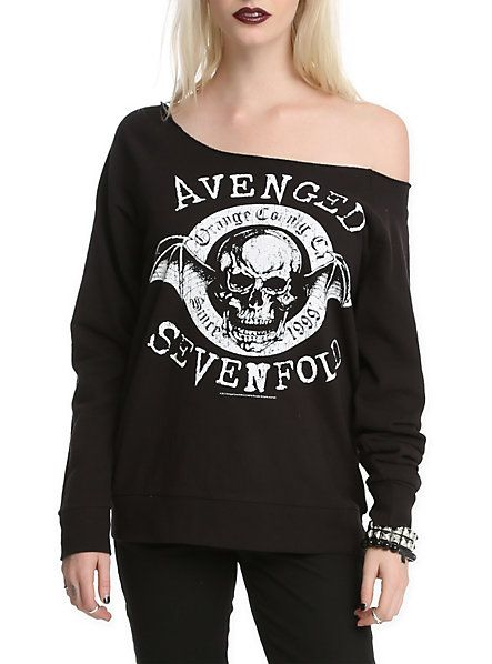 I WANT THIS SHIRT!!!! Avenged Sevenfold Orange County Girls Pullover Top | Hot Topic