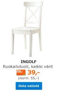 INGOLF Ruokailutuoli, kaikki värit IKEA FAMILY -kortilla 39,- (norm 55,-) Osta netistä »