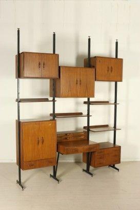 Libreria anni 50 60 nel 2019 arredamento anni 70 mobili for Mobili anni 60