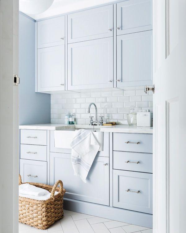 Pin by Angela Massaro on house | Blue laundry rooms, Laundry
