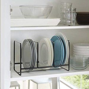 10 Affordable Storage Solutions to Organize Your Kitchen Cabinets — Nicole Janes Design #plateracks