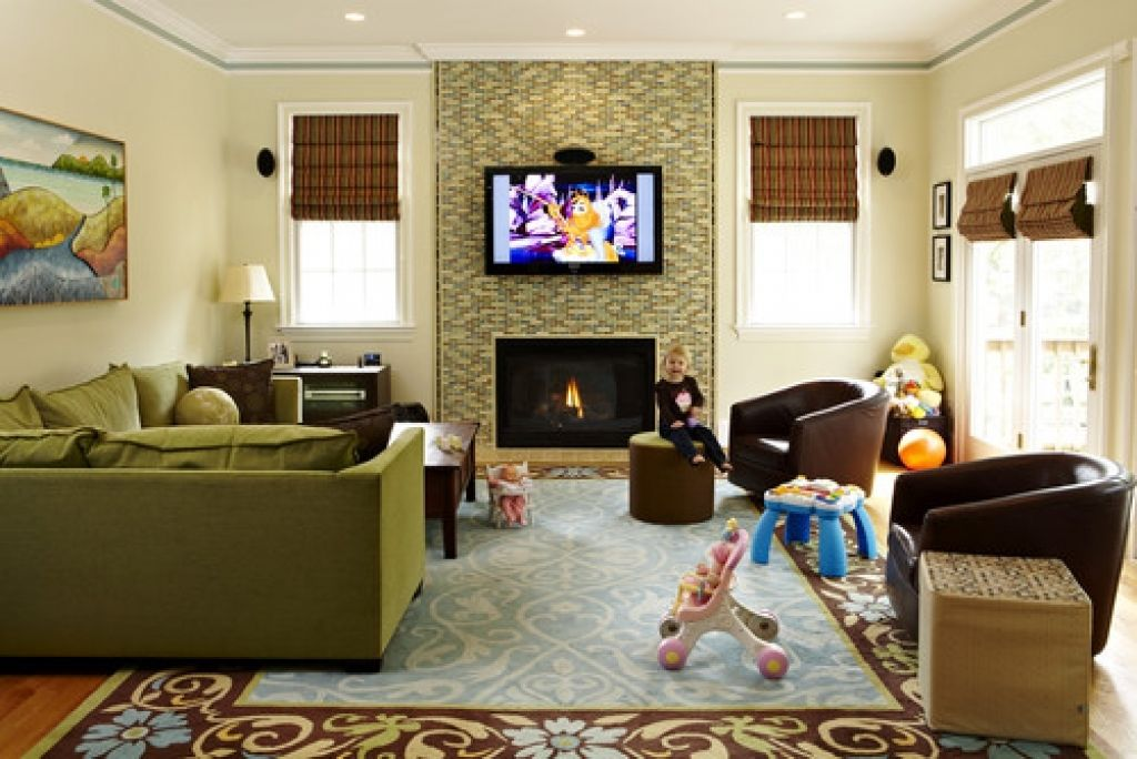 Image result for kid friendly living room ideas New House Ideas in