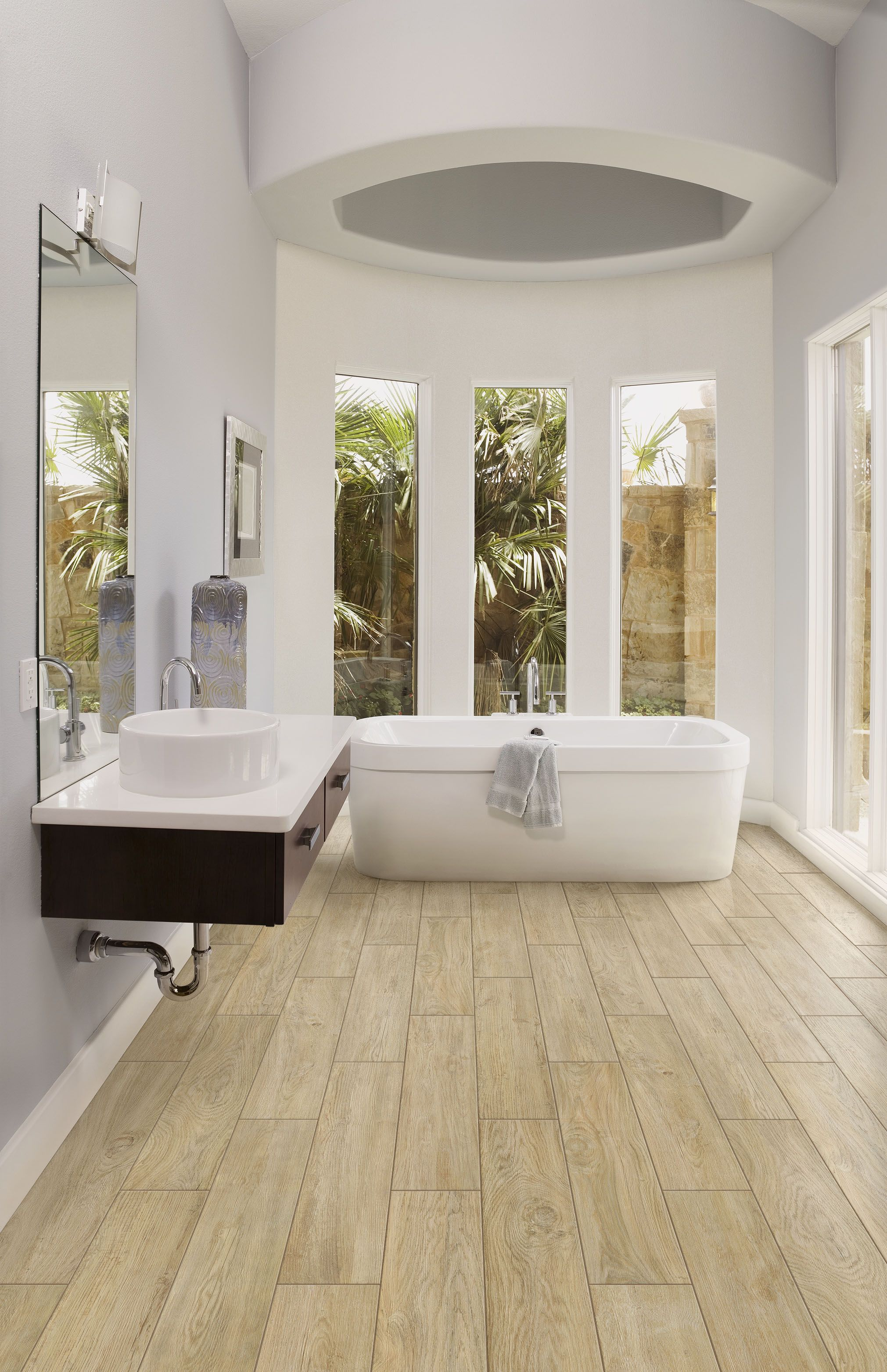 Luxury Bath featuring Magnolia Fir Available from