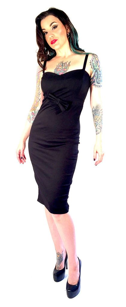 Inked Boutique - Black Bowtie Dress (Available in multiple prints!) Retro Vintage Rockabilly Pin Up www.inkedboutique.com