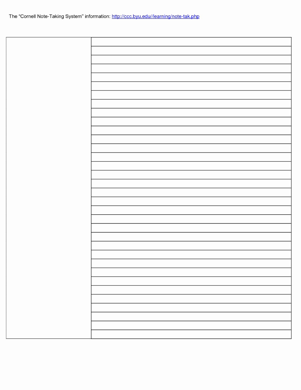 Microsoft Word Note Taking Template from i.pinimg.com
