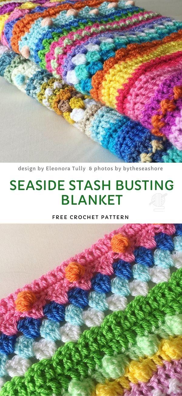 Seaside Stash Busting Blanket Free Crochet Pattern