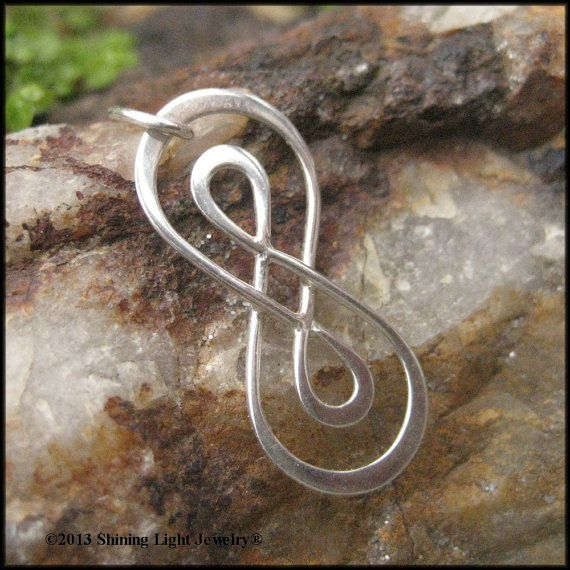 Double Infinity Symbol Charm Sterling Silver Infinity Necklace