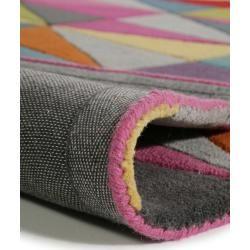 Photo of benuta Wollteppich Funk Multicolor 120×170 cm – Naturfaserteppich aus Wolle benuta