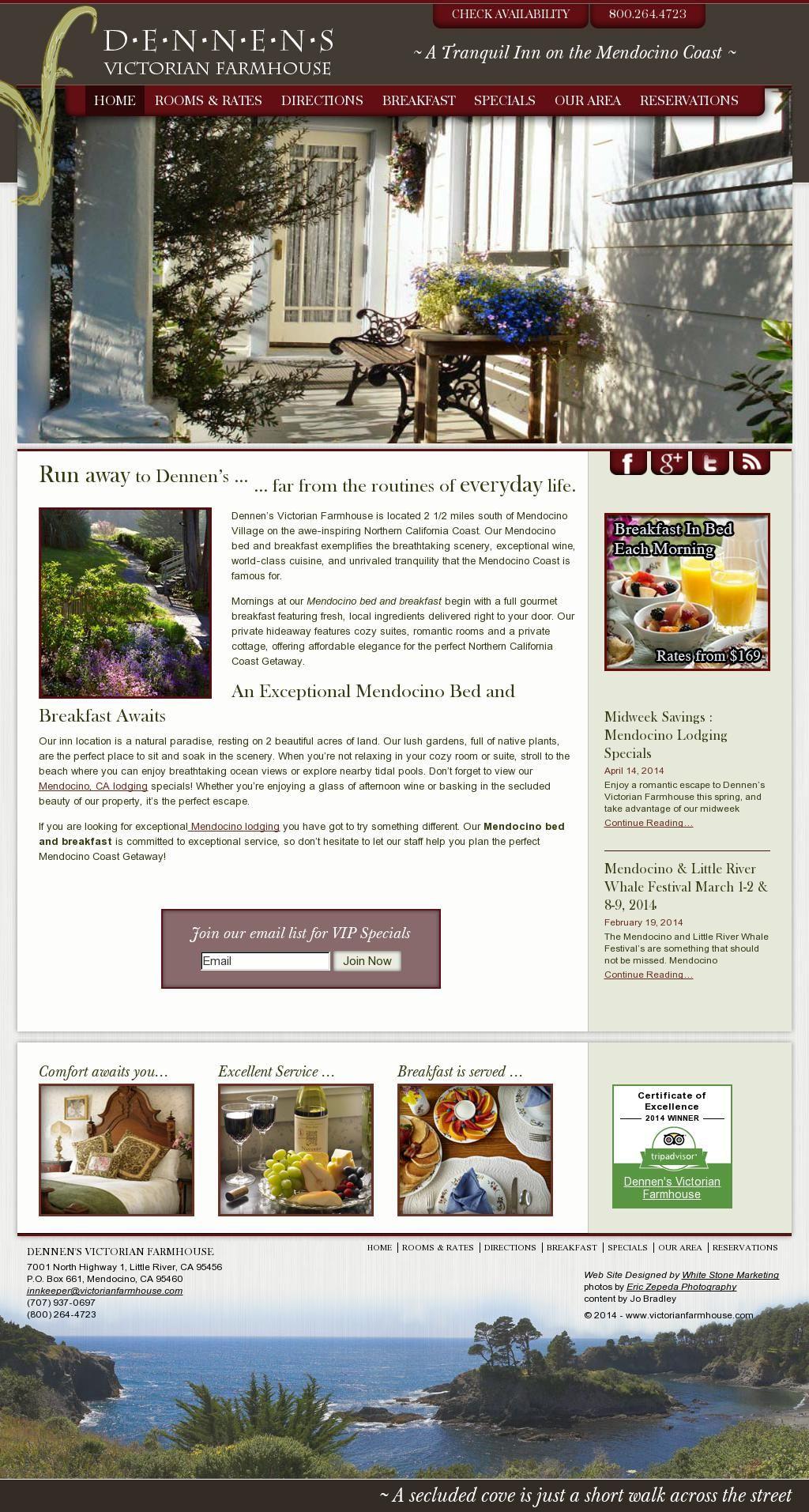 The website a stunning