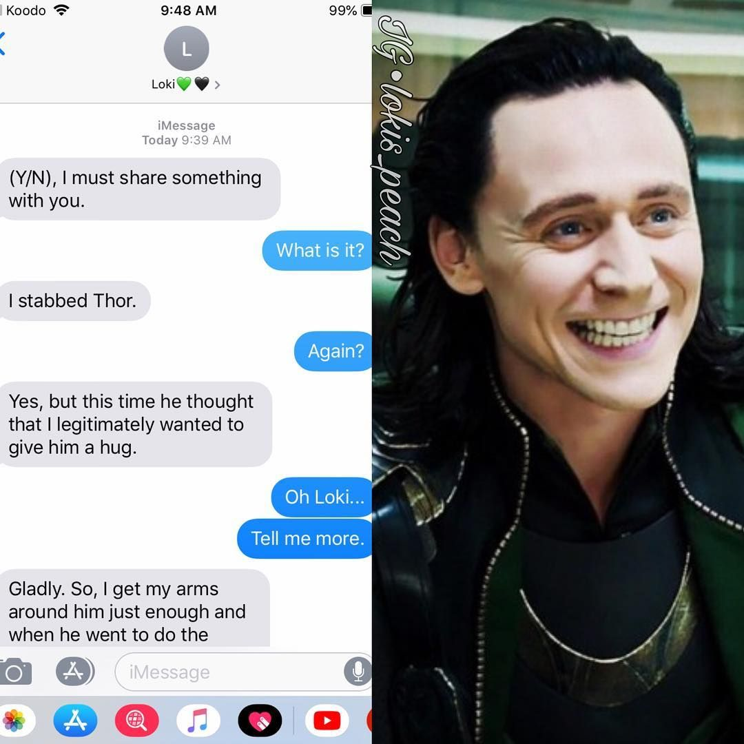 "🐍👑Loki's Queen👑🐍 on Instagram: ""Imagine Loki texting you"