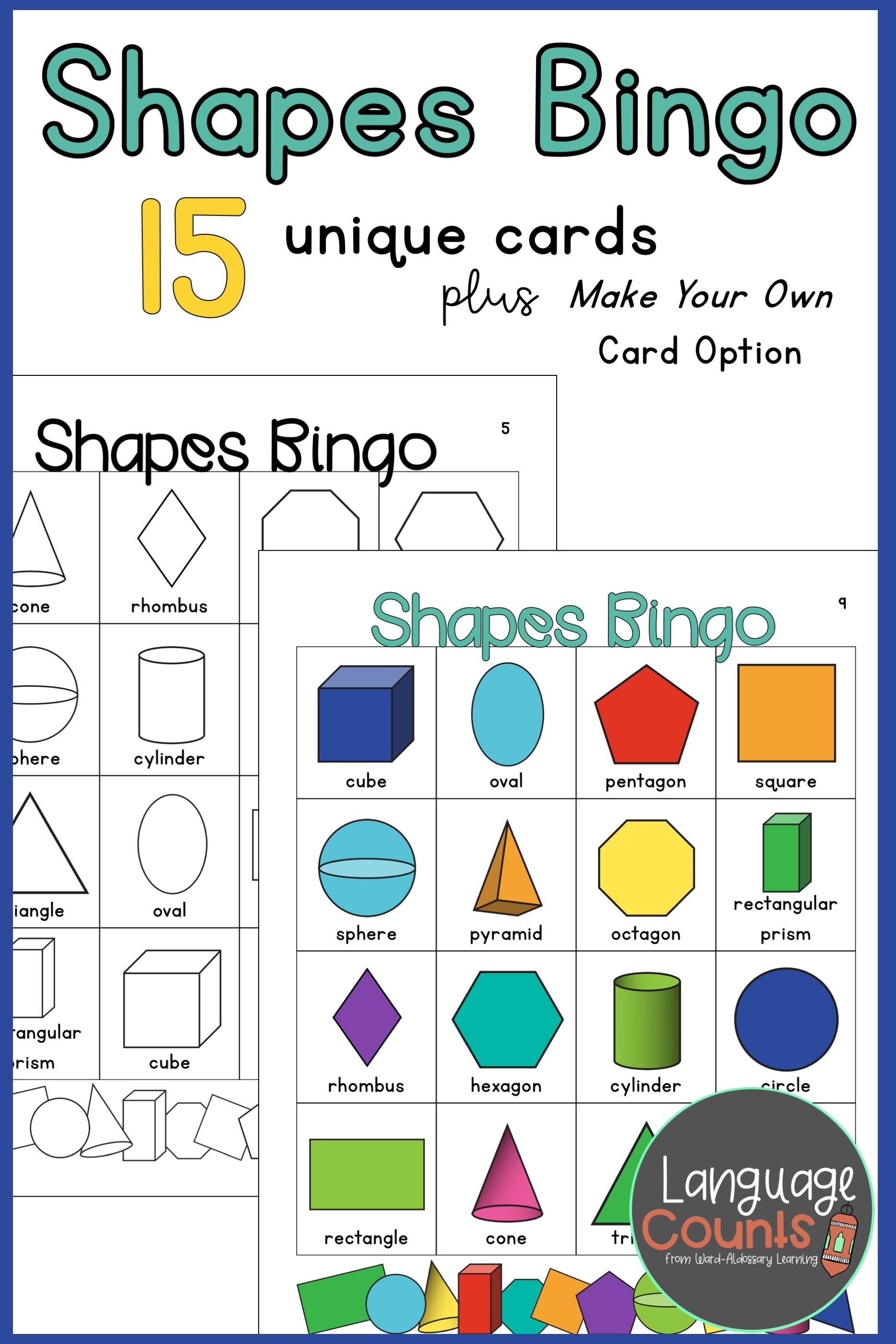 2 D And 3 D Shapes Bingo