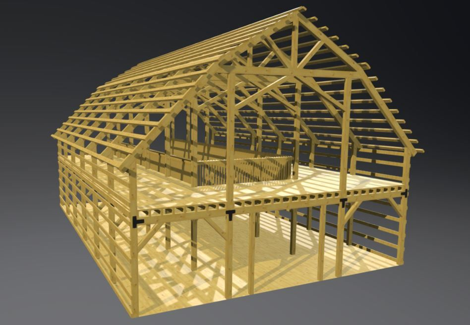 Our 30x30 Gambrel Barn Plans Are A Classic Barn Design The Gambrel Roof Came Into Prominence On Farms After The Civi Gambrel Barn Barn Construction Barn Plans