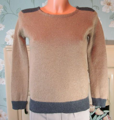 ZARA SANDY BROWN & DARK GREY WASHED WOOL MIX JUMPER TOP SIZE S R10981 http://stores.ebay.co.uk/Sangriasuzies-Emporium http://www.sangriasuzie.com/ If any of the  items pictured in this blog/pin take your fancy they can be bought from one of the above addresses.  Or e-mail me at drobertshq@hotmail.com   if you need more info.