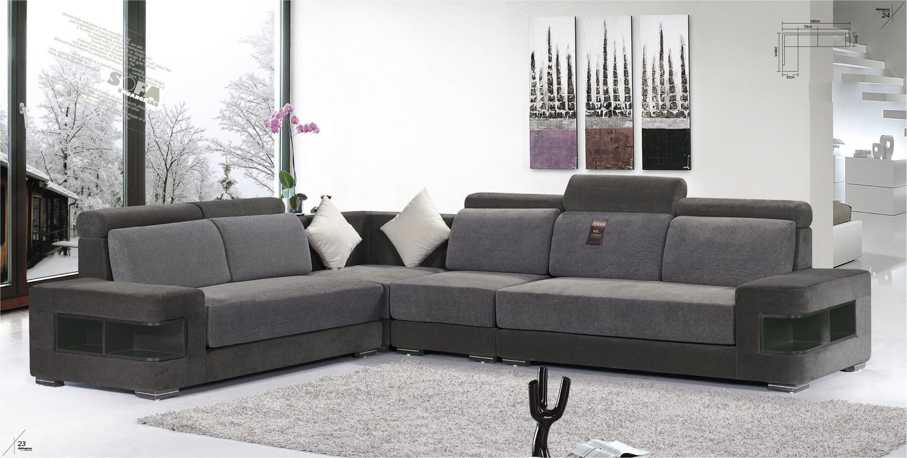 Modern L Shaped Sofa And Living Room Sets Fabric Sofas Online