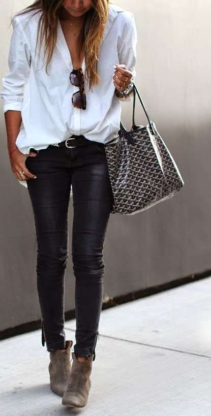 Abbinare le scarpe ai pantaloni di pelle (Foto 641) | Shoes