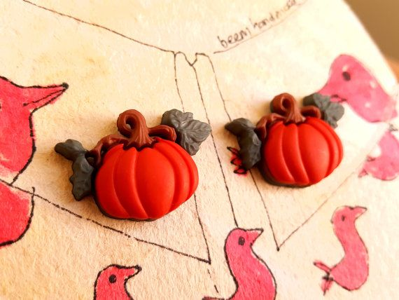 Hey, I found this really awesome Etsy listing at https://www.etsy.com/listing/470824595/pumpkin-collar-pins-pumpkin