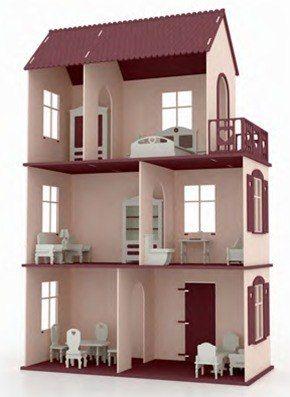 La casa de barbie en madera buscar con google casa de barbie pinterest casa de barbie - La casa de barbie de juguete ...