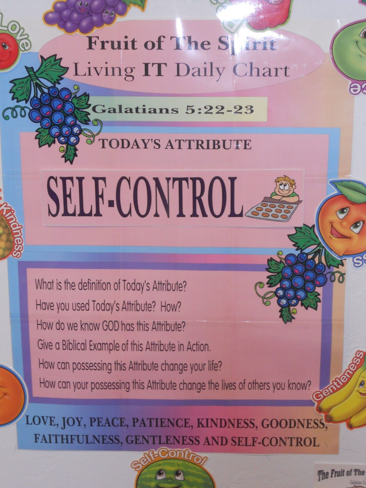 Image Result For Fruit Of The Spirit Self Control Coloring Page