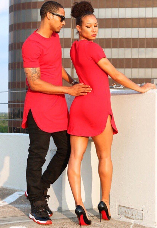 a45cb3648f #HisShirt #HerDress #StylishCouple Dope Couples, Black Couples, Couple  Style, Cute