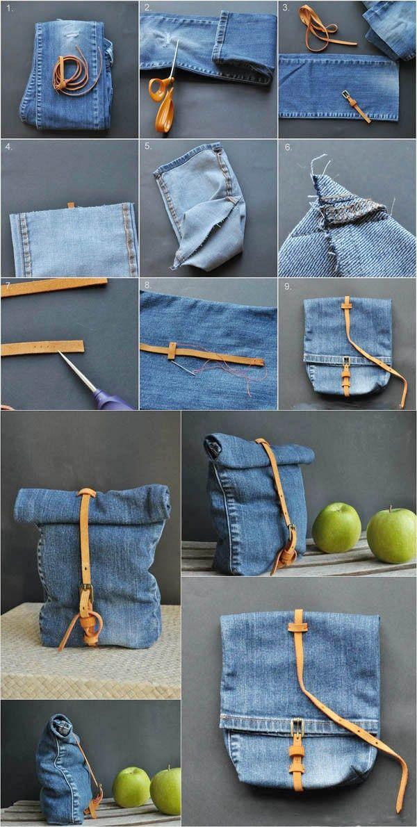 fabriquer un sac avec un vieux jean | vieux jeans, fabrique et vieux