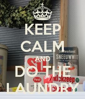 Blomkje en Wenje: Keep Calm and do the laundry