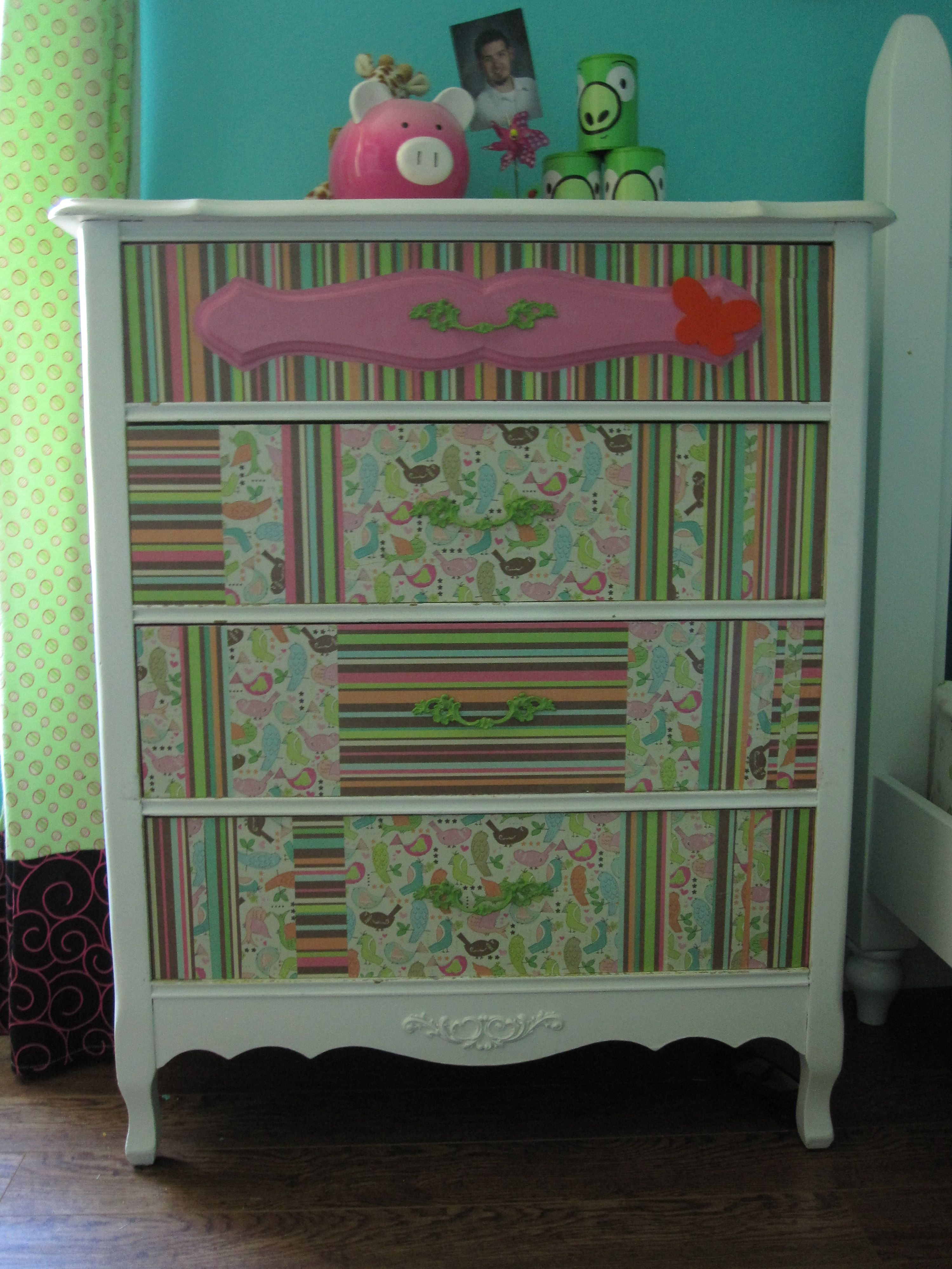 Decoupage Dresser Furniture Dressers Armoirs And