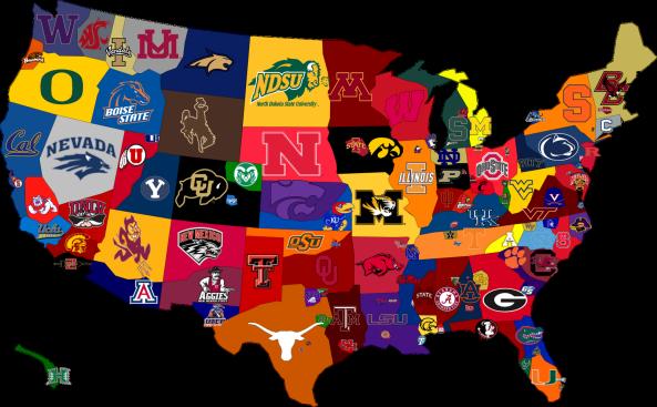 Levi Muller On Wordpress Com College Football Map College