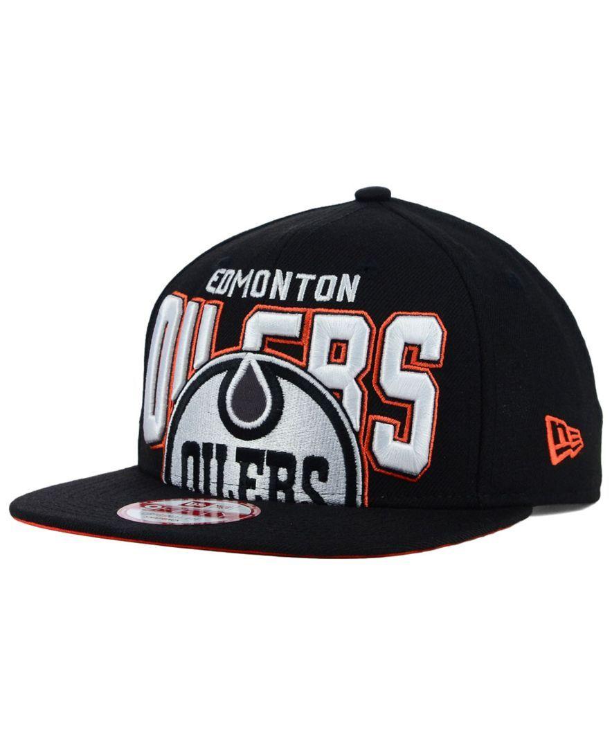 New Era Edmonton Oilers Bold Statement 9fifty Cap Sports Fan Shop By Lids Men Macy S Edmonton Oilers Oilers New Era