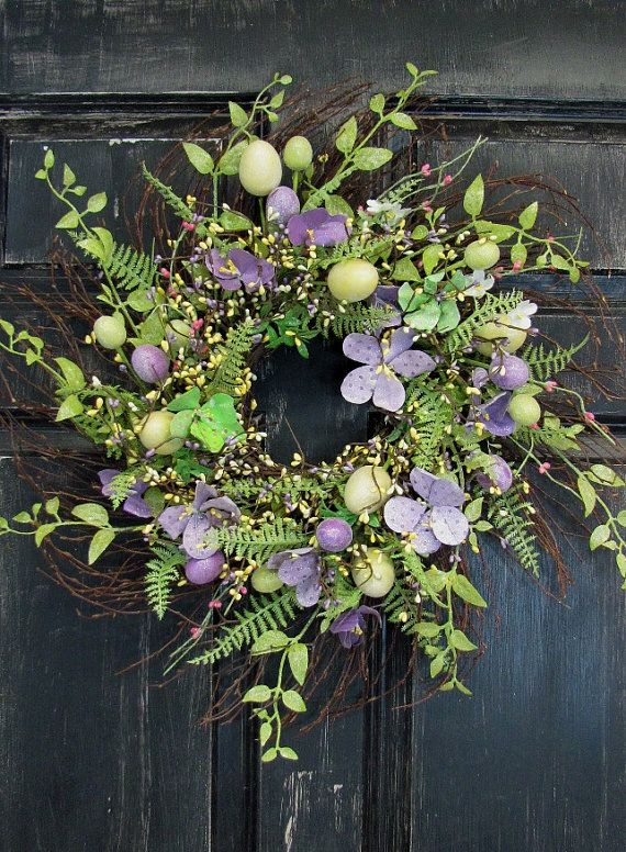 Hey, I found this really awesome Etsy listing at https://www.etsy.com/listing/181244437/spring-wreath-easter-egg-floral-wreath