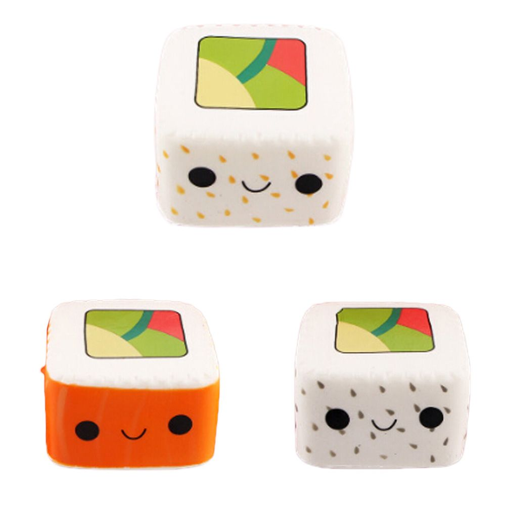 New Kawaii Cartoon Face Pendant Stretchy Bread Squishy Cute Yummy Sushi Slow Rising Cake Kids Fun Toy Gift Phone Straps Mobile Phone Accessories Cellphones & Telecommunications