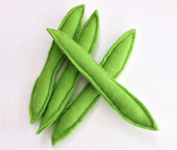Cibo di feltro finta di giocare verde fagioli di TwinklePlay