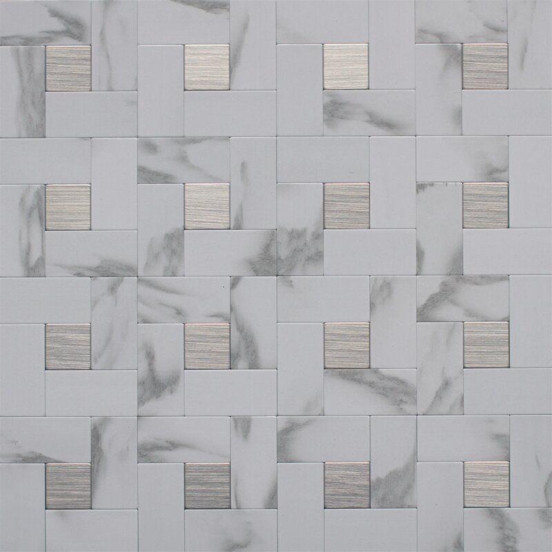 12 X 12 Metal Peel Stick Mosaic Tile Instant Mosaic Stick On Tiles Mosaic Tiles Peel and stick metal tiles