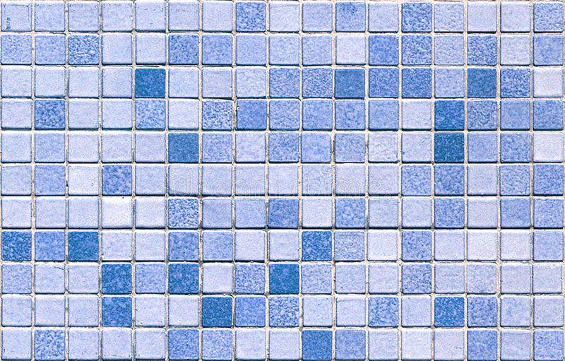 Blue Tone Mosaic Tiles Seamless Blue Color Toned Mosaic Real