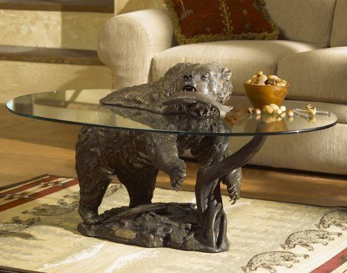 Image Of Grizzly Bear Coffee Table B001kats98 Decoracao