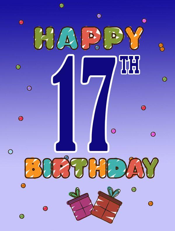 Happy 17th Birthday 2 Sided Garden Flag Birthday Smirthday Happy