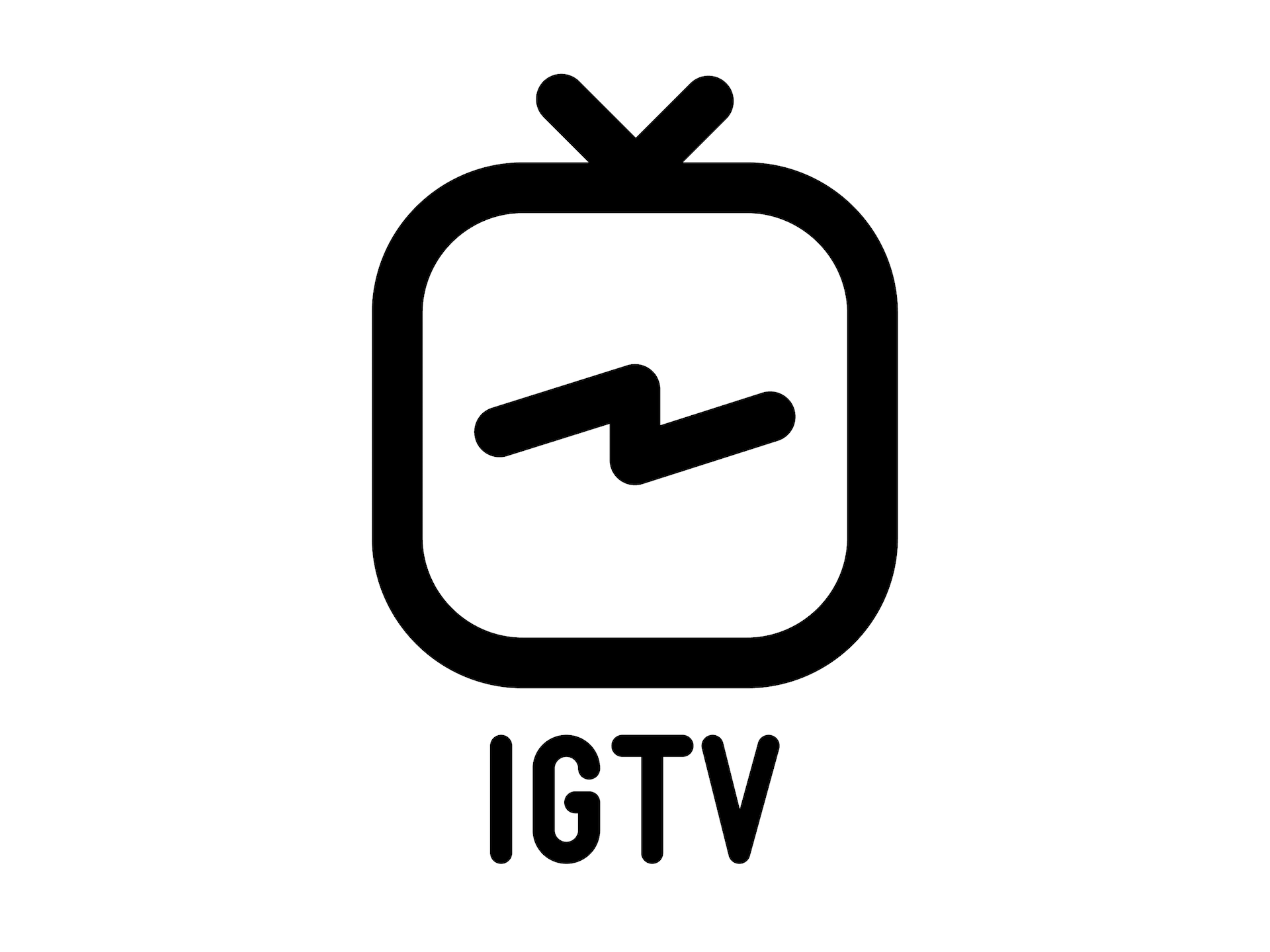"Free ""Instagram TV"" Vector Logo Set Krafti Lab"