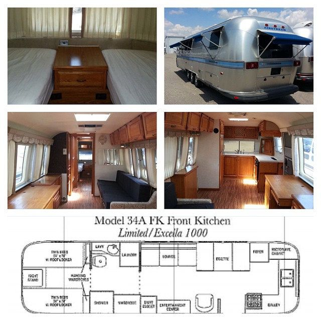 Airstream 4 1999 34a Excella Front Kitchen Exterior In Excellent Shape We Will Be Doing A Makeover On This One New Flooring Remove Twin Beds And Replace Airstream Rv Living