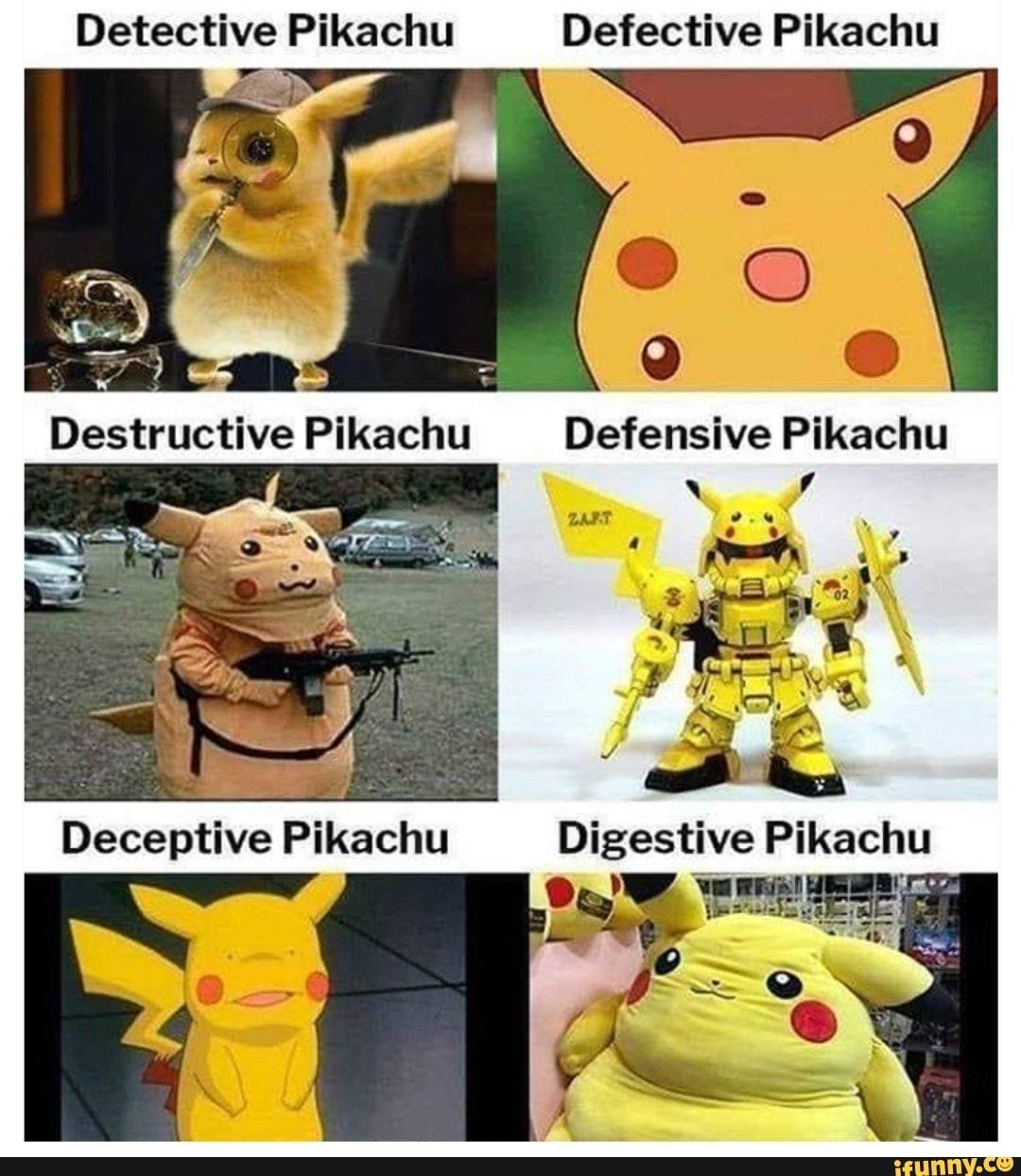 Detective Pikachu Defective Pikachu - IFunny :)