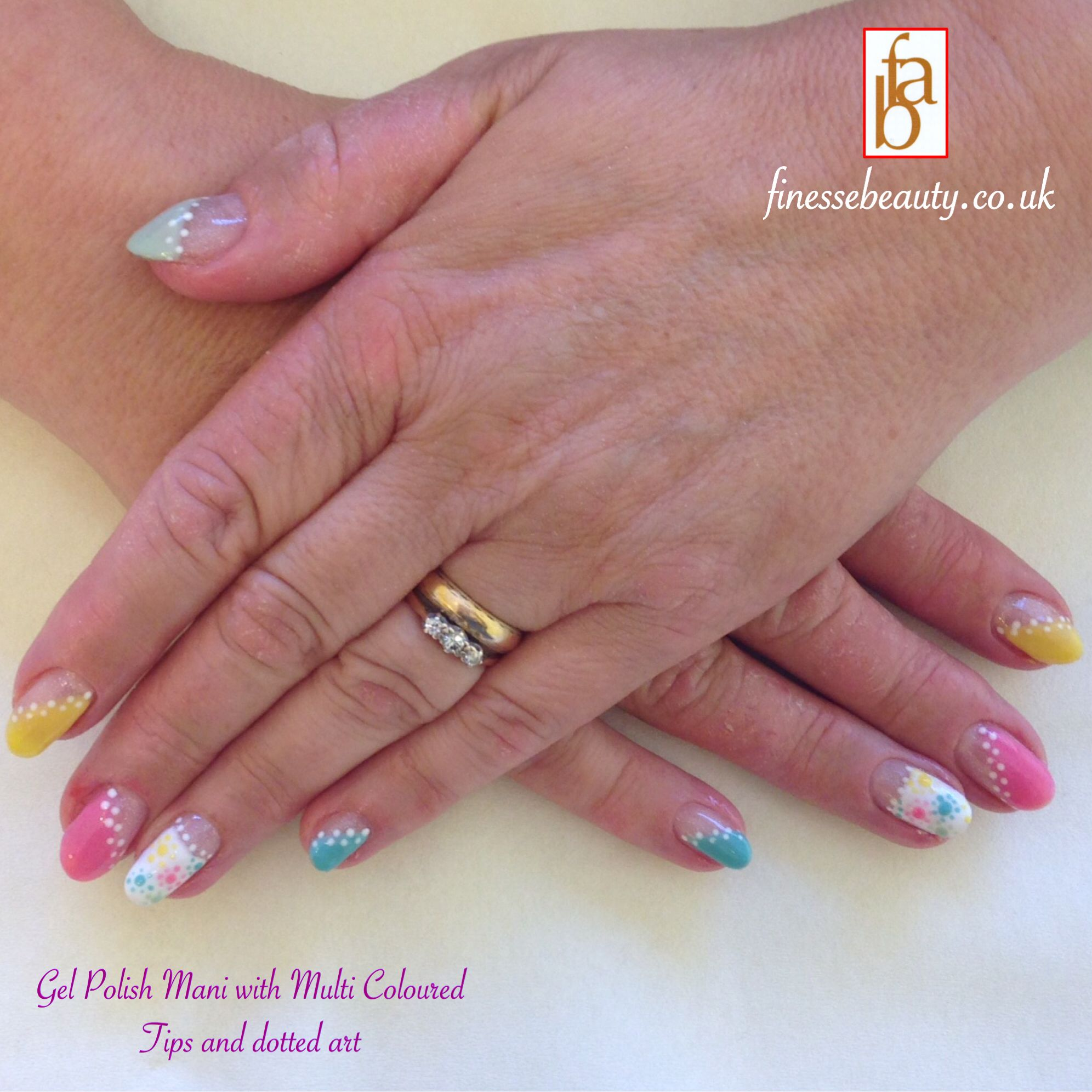 Colourful nails with a French twist, lovely for Summer | Acrylic ...