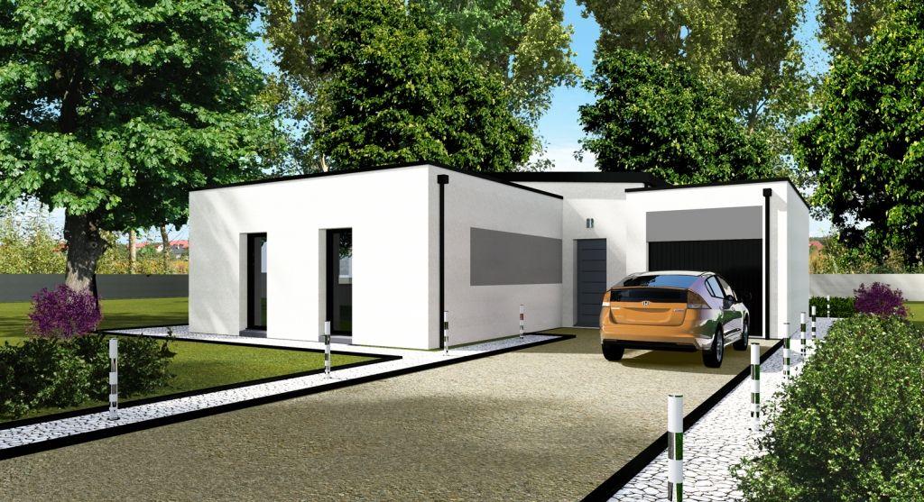 Modele solea toit-monopente Plan de maison Pinterest Construction - plan de maison sur terrain en pente