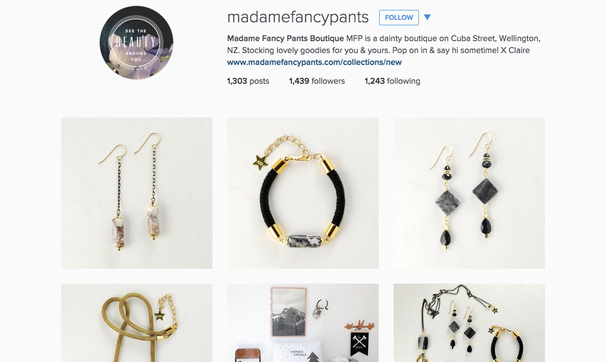 b7f906ab3 Getting your business social: Facebook and Instagram | Collect | Madame  Fancy Pants | Retail Marketing Blog