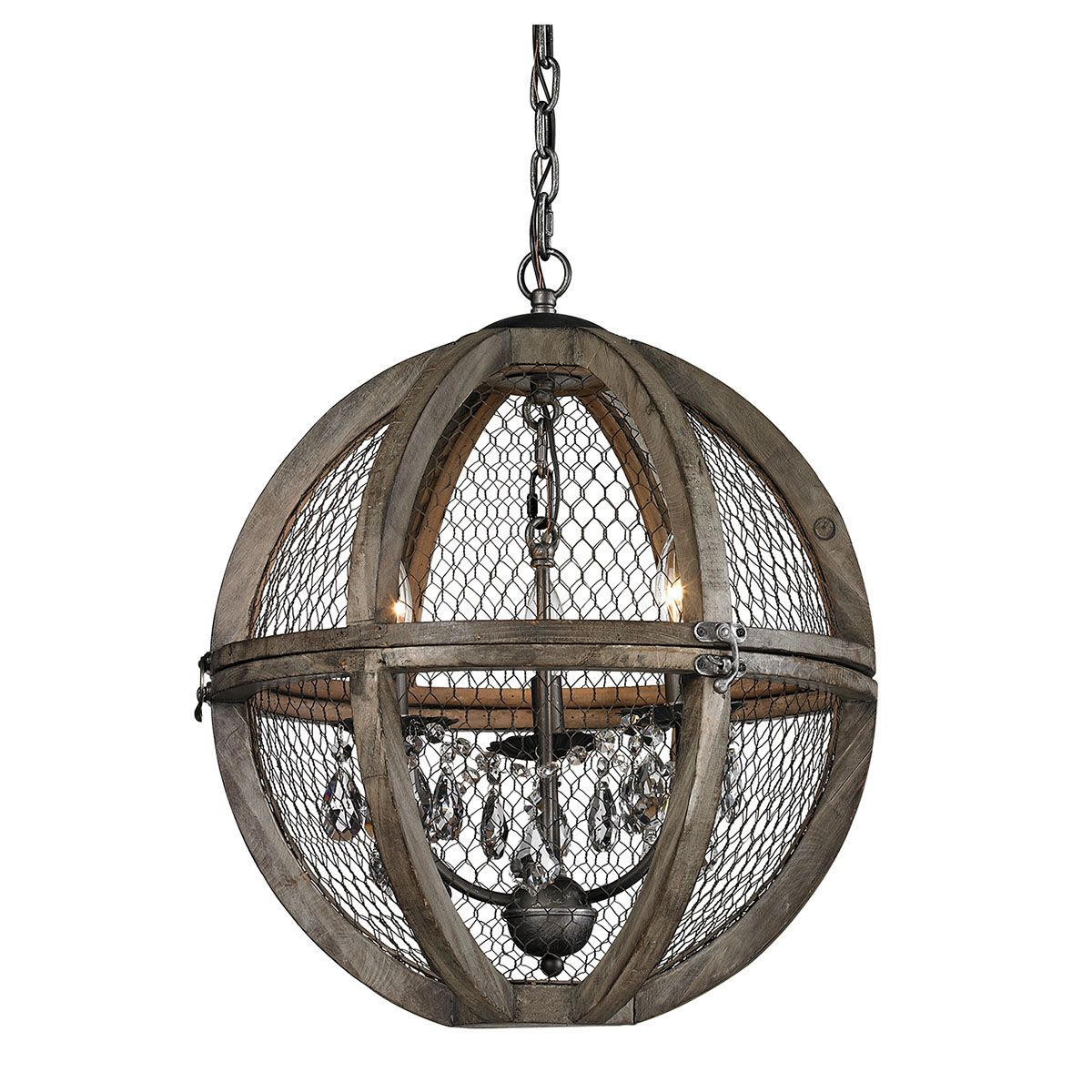 Renaissance Wire Mesh Chandelier - Farmhouse Chic | New Furniture ...